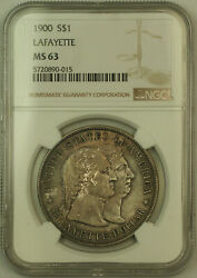 1900 Lafayette Commemorative Silver Dollar 1 Ngc Ms-63 Toned Kh