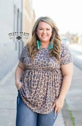 Crazy Train All Dolled Up Top - Leopard Baby Doll - S to 3X