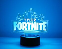 Fortnite Personalized Led Night Light Lamp With Remote Control - Customized Led