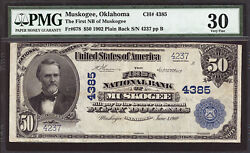 50 1902 The First National Bank Of Muskogee, Oklahoma Ch 4385 Pmg 30