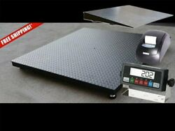 Selleton Floor Scale With Ramp And Printer 2500 Lbs X .5 Lb 48 X 72 4and039 X 6and039