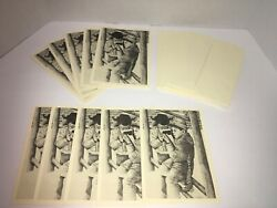 Vintage Reading Literacy Holiday Cards African American Artwork Set Of 10 B4