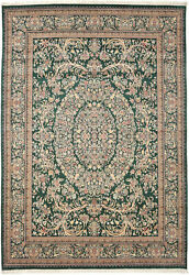 10x14 Hand-knotted Lahore Carpet Oriental Green Fine Wool Area Rug D40542