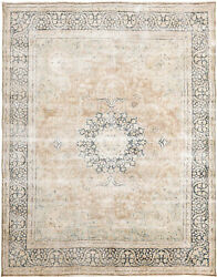 10x13 Hand-knotted Vintage Antique Carpet Oriental Rust Wool Area Rug D57256
