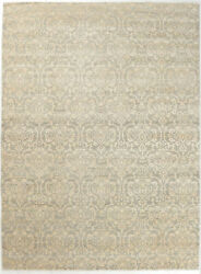 9x12 Hand-knotted Oushak Carpet Traditional Grey Fine Wool Area Rug D51619