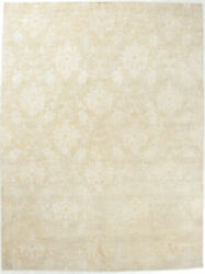 9x12 Hand-knotted Oushak Carpet Traditional Grey Fine Wool Area Rug D52414