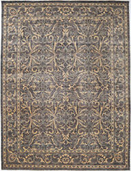 9x12 Hand-knotted Ariana Carpet Traditional Grey Fine Wool Area Rug D52175