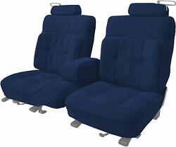 Acme U209-y668 Front Navy Blue Velour Bench Seat Upholstery