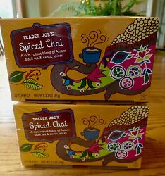 Trader Joes Spiced Chai Tea Assam Black Tea And Exotic Spices 2 Boxes 🌺