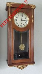 Antique German Westminster Chime Wall Clock French Style Not Odo 0297