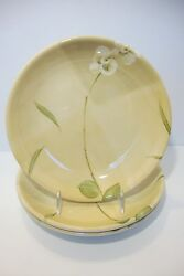 Crate And Barrel Orchid Set Of 3 Pasta Bowls China 9 Inch