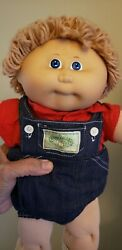 Vintage Collectible Cabbage Patch Kid Doll Xavier Roberts Signed, Coleco 1st Ed.