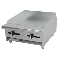 Asber Aemg-24 H 24 Standard Duty Manual Griddle Nat Gas Countertop 3/4 Plate