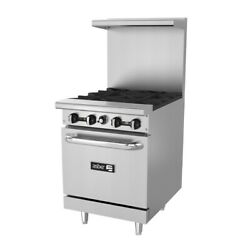 Asber Aer-4-24 24 4 Burner Restaurant Range Natural Gas