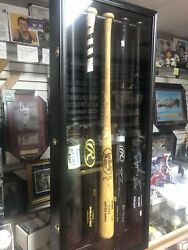 5 Baseball Bat Display Case Holds Mlb Game Used Autographed Signed Bats 39x16x4