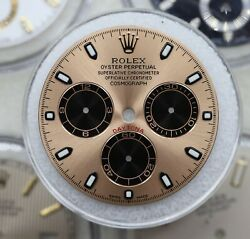 Rolex Cosmograph Daytona Rose Pink Dial Gold Accents 116505 116515