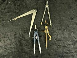 4 Technical Writing Instruments Compass Vintage And Modern