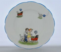 1-extremely Rare Royal Albert Crown China Children Dogs Scalloped
