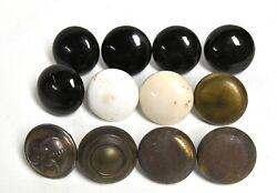 12 Vintage Brass And Porcelain Door Knobs Architectural Salvage Repupose Uses