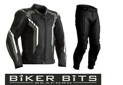 Rst Axis 2021 Black/grey/white Ce Menand039s Leather Budget Jacket And Trousers 2pc Set