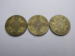 Lot British Two Shilling Florin Sixpence Threepence Coins 0.500 Silver 1.068 Asw