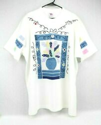 No Boundaries Plus Women's 3XL Short Sleeved Top White with Multicolor Design $14.95