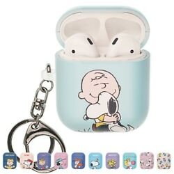 Willbee Baseball For Airpods Case With Keychain Key Ring Hard Cover