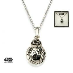 Disney Star Wars Bb-8 Lead Hero Droid Spinning Head 3d Pendant With Chain