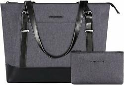 15quot; Business Laptop Tote Handbag Lightweight Travel Women Shoulder Bag Gray NEW $39.99