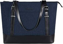 15quot; Business Laptop Tote Handbag Lightweight Travel Women Shoulder Bag Dark Blue $39.99