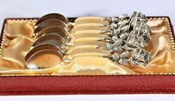 Vintage German Silver Marked 835 Forks With Rose Handles And Matching Spoons