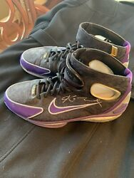 Kobe Bryant Game Worn Shoes Signed #8 Nike Air Zoom Huarache 2K4 JSACOALOA