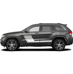 Sticker Decal Stripe For Jeep Grand Cherokee Front 2015 2016 Grill Mirror Chrome