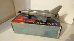 Vintage Plastic Toy Airplane Mig-23 Ussr 1980s In The Original Box New