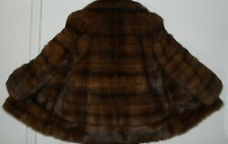 Karl Lagerfeld Top Quality Russian Sable Fur Jacket Coat Size 8-10 Free Shipping