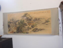 Antique Chinese Large Scroll Painting 1921 Or 1981辛酉年artist王時敏 Sign_stamp Hhp78