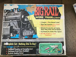 Vintage 1950's Marx Big Rail Work Train And Box Set 50350 Untested As Is L1