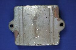Vintage Historic Motorcycle Parts Battery Cover Metal Silver Paint