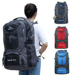 65L75L Waterproof Backpack Shoulder Hiking Bag Outdoor Camping Travel Rucksack $20.98