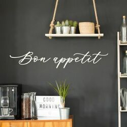 Bon Appetit Design Wall Decals Kitchen Quote Vinyl Sticker Cafe Restaurant Decor