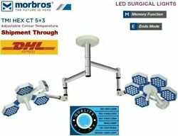 Medical 5+3 Surgical Operating Light Led Ot Light Operating Ceiling Twin Light And