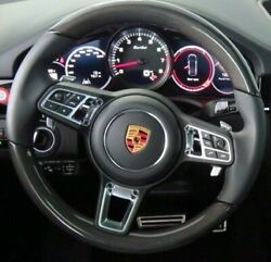 Porsche Oem 9y0 Cayenne 2018+ Carbon Fiber And Leather Steering Wheel Brand New