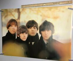 Vintage Music Poster The Beatles Together Group Band Fall Leaves Obla Di Obla Da