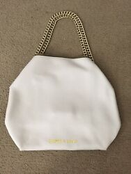 Bimba Y Lola Large Bag Purse Shoulder Gold Chain Logo GUC leather tote designer $250.00