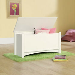 Wooden Storage Chest Bench Wood Trunk Clothes Quilt Blanket Toy Box Hall White