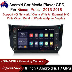 """9"""" Android 10.1 Car Stereo Non-dvd Gps Radio Head Unit For Nissan Pulsar 13-16"""