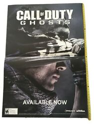 Vintage Sign Rare Call Of Duty Ghosts Promo Only Huge Double Sided Poster 48x33andrdquo
