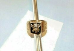 Moose Lodge Moose1963 Double Anniversary 75/50 Years 10k Gold Ring Pa109
