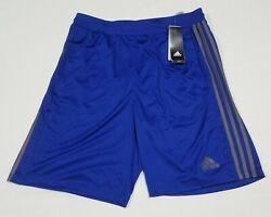 Adidas Men's 3 Stripes Basketball Climate Fabric Shorts Blue BR1465 Blue