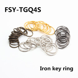 Open Iron Key Ring Elastic Ring Diy Plating 4 Colors Various Sizes 12mm-38mm